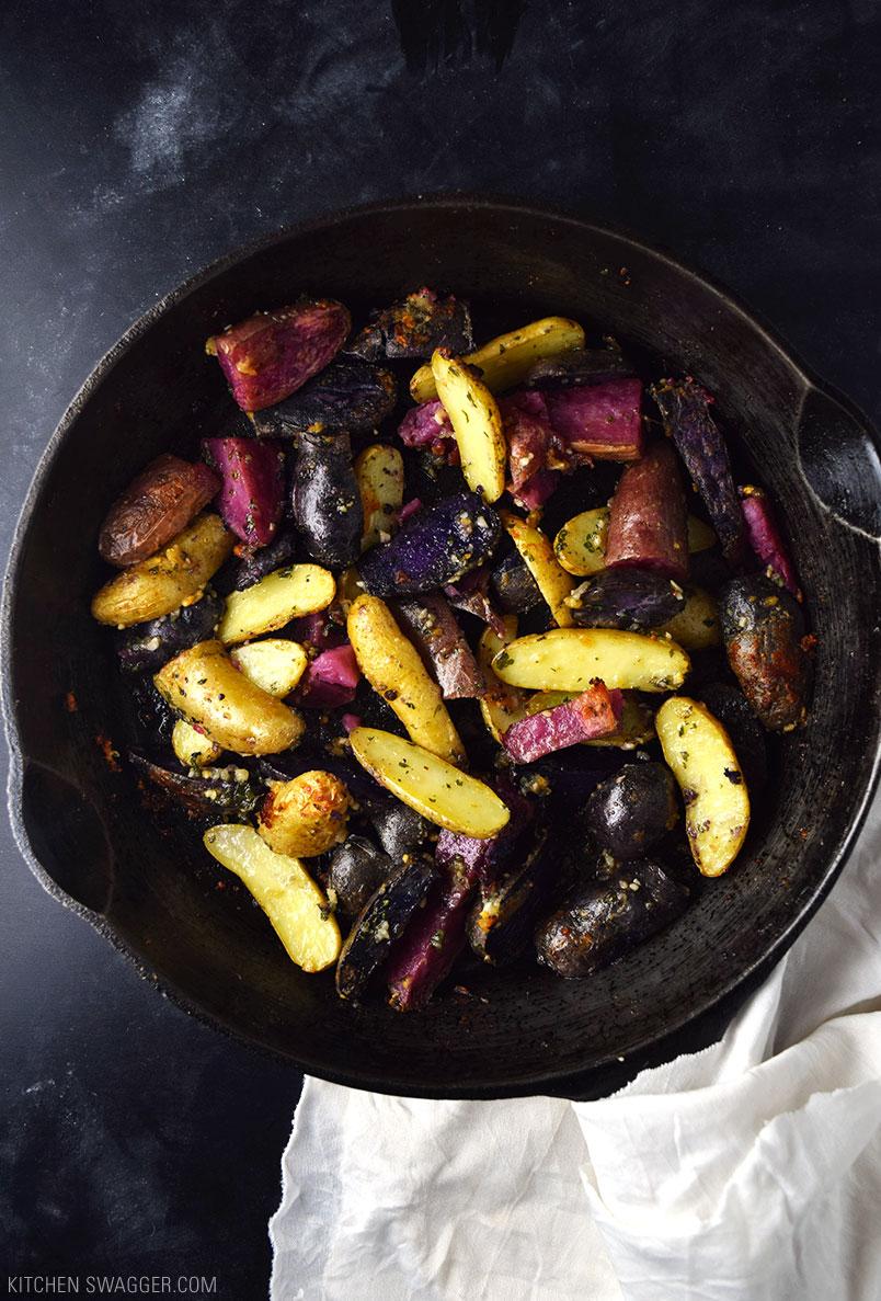 Garlic Parmesan Fingerling Potatoes