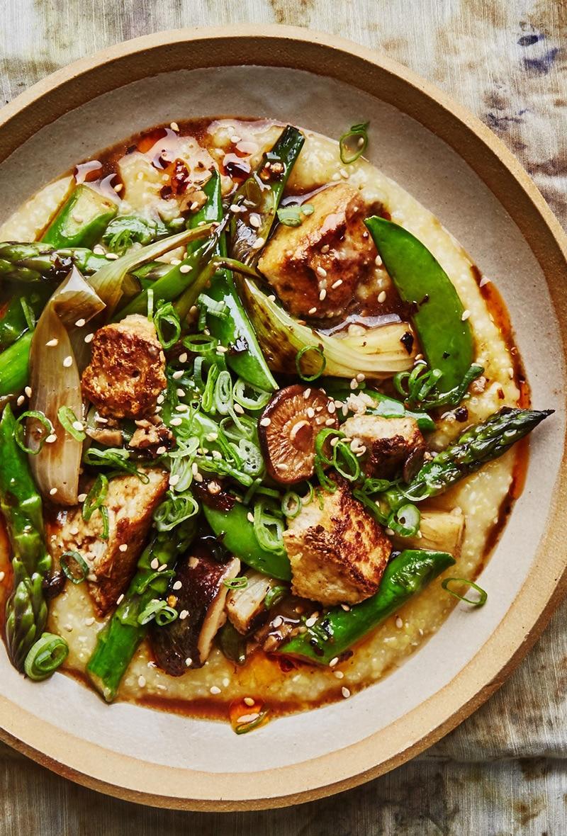 Miso-Polenta-with-Spring-Vegetables