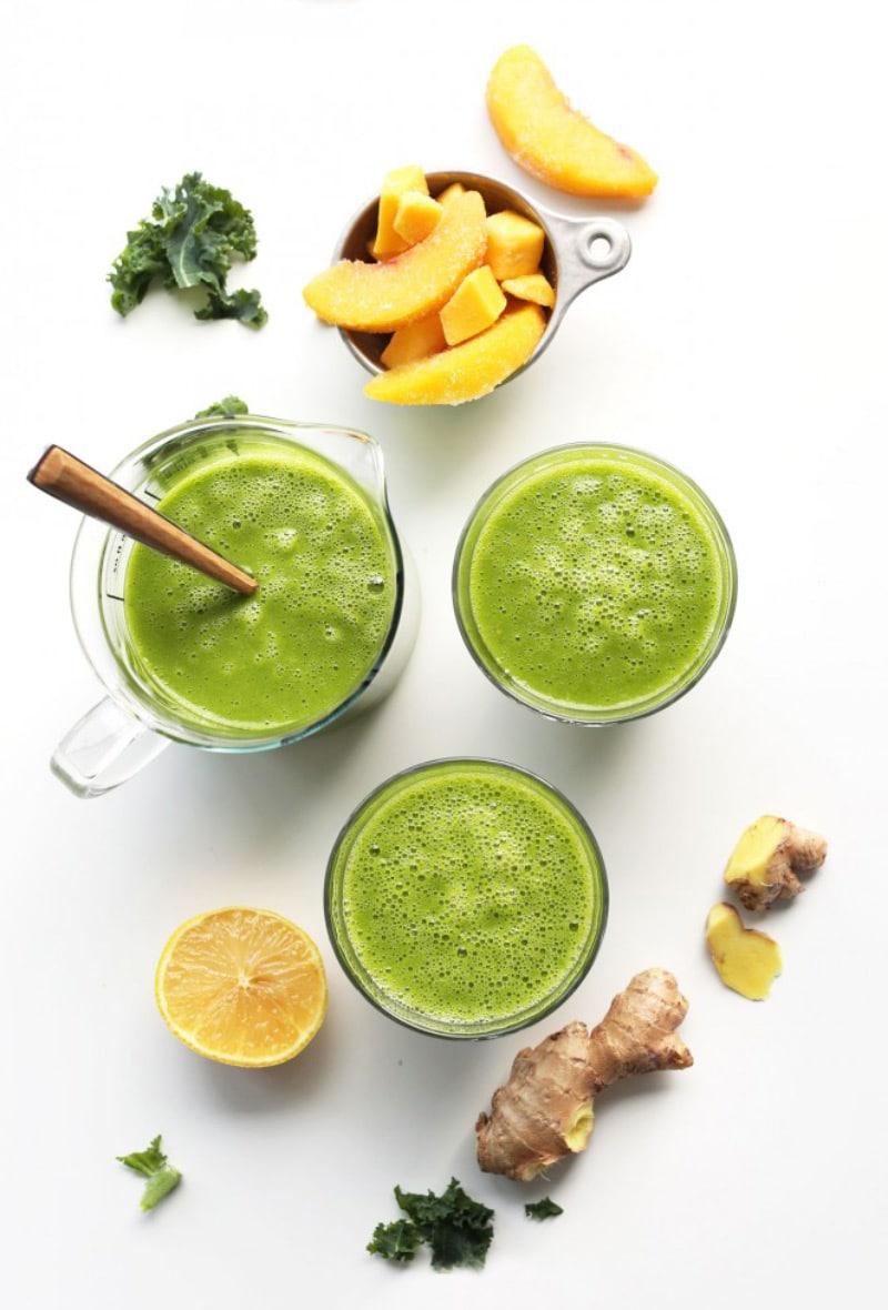 Mango-Ginger-Kale-Green-Smoothie
