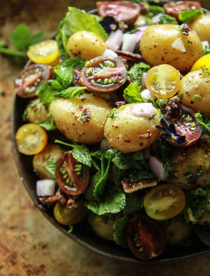 BLT Potato Salad from HeatherChristo.com